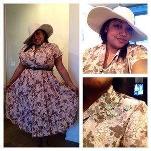 Vintage Dresses - Vintage 1940s Frock